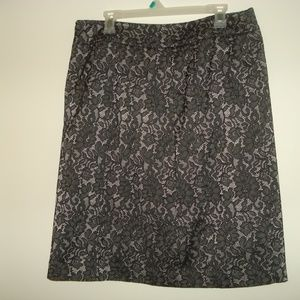 Worthington's Stretch Lined Skirt 20W Black floral